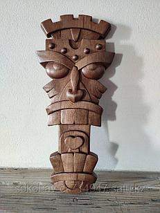 Панно маска настенная резная из дерева, декоративная, 33 х 15 х 3 см