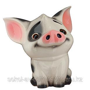 Копилка / статуэтка керамическая Поросенок / свинка, высота 24 см
