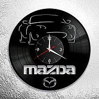 Настенные часы из пластинки Mazda Мазда, подарок фанатам, любителям, владельцам, 0931