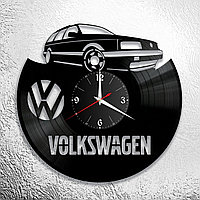Настенные часы из пластинки volkswagen фольксваген, подарок фанатам, любителям, владельцам, 0940