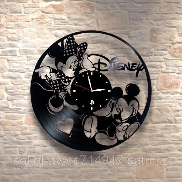 Настенные часы из пластинки Микки Маус Mickey Mouse, детям в детскую комнату, 0092