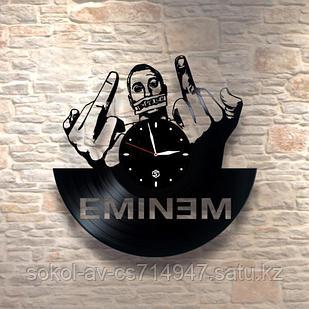 Настенные часы из пластинки, Eminem Эминем, подарок фанатам, любителям, 0218