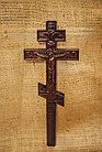 Панно крест резной настенный из дерева Православный ручной, 10.7 x 26.4 см, фото 3