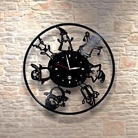 Настенные часы из пластинки, Рождество и Новый Год, 0459