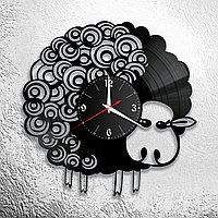 Настенные часы из пластинки интерьерные Барашек / овечка, в офис, кухню, комнату , прихожую, 1114