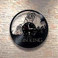 Настенные часы из пластинки, Lion King Король Лев, детям в детскую комнату, 0248