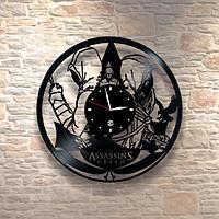 Настенные часы пластинки, Кредо убийцы Assassin's Creed, подарок фанатам, любителям, 0400