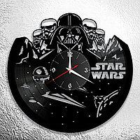 Настенные часы из пластинки Star Wars Звёздные войны, подарок фанатам, любителям, 0847