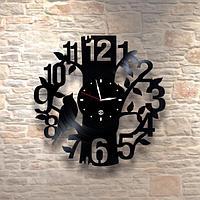 Настенные часы из пластинки Птица, лофт, винтаж, ретро, в офис, кухню, коридор, гараж, комнату, 0114