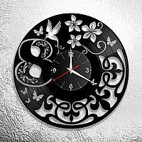 Настенные часы из пластинки 8 марта, украшение (оформление) комнаты (помещения) к празднику, 1088