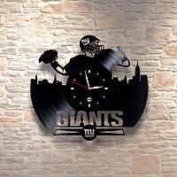 Настенные часы из пластинки, Giants Американский футбол / регби, подарок регбисту, фанатам, 0228