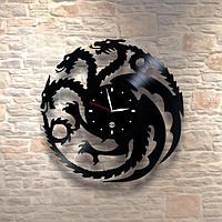 Настенные часы из пластинки Дракон, подарок фанатам, любителям, 0055