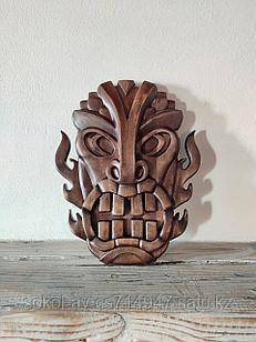 Панно маска настенная резная из дерева, декоративная, 19 х 13 х 3 см