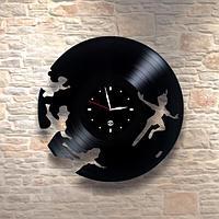 Настенные часы из пластинки Питер Пэн / Peter Pan, подарок детям в детскую комнату, 0112