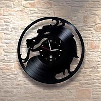 Настенные часы из пластинки Дракон, подарок фанатам, любителям, 0056