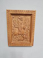 Икона резная из дерева ММТ Organic Георгий Победоносец, дуб, 23 х 17 см