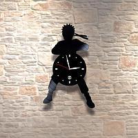 Настенные часы из пластинки Ниндзя, мальчикам в детскую комнату, 0102