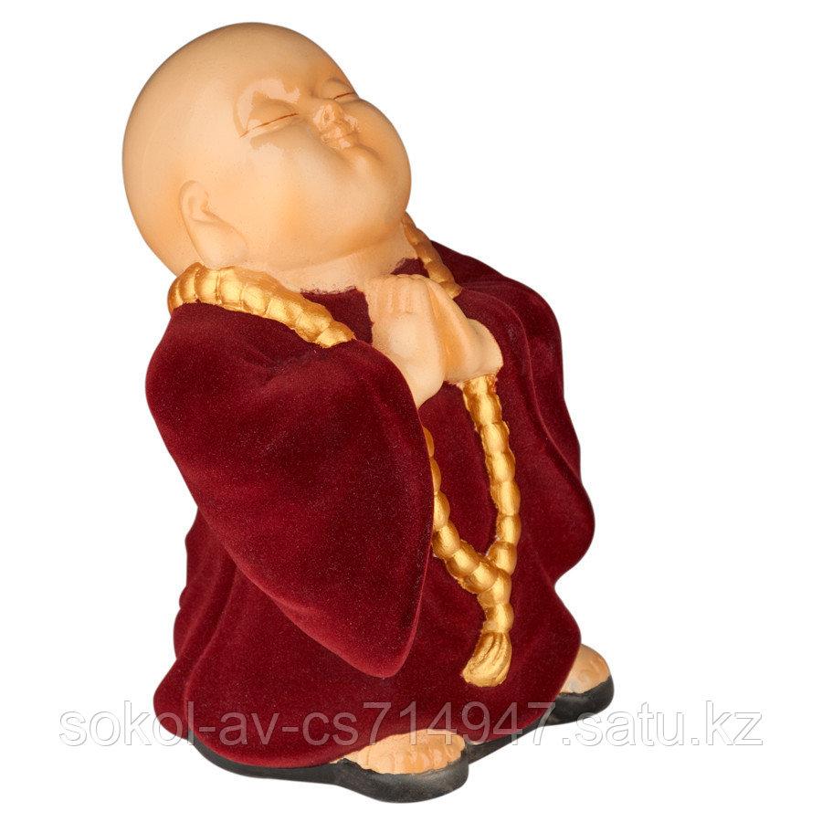 Статуэтка Буддист The Buddha, подарок буддисту, керамика, 24*16*15 см, красный