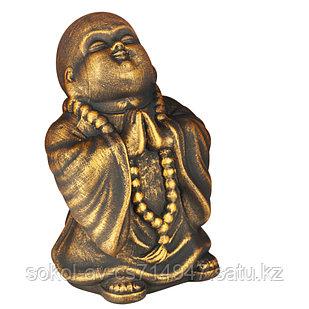 Статуэтка Буддист The Buddha, подарок буддисту, керамика, 24*16*15 см, золото