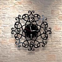 Настенные часы из пластинки, лофт, винтаж, ретро, в офис, кухню, коридор, гараж, комнату, 0525