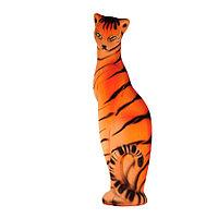 Копилка / статуэтка керамическая кошка / кот, высота 49 см, желтый