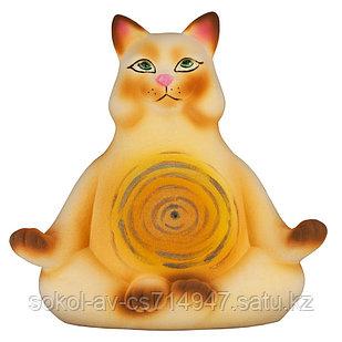 Копилка / статуэтка, керамическая кошка / кот йога, подарок для фанатов, любителей йоги йогини, 25*24*18 см