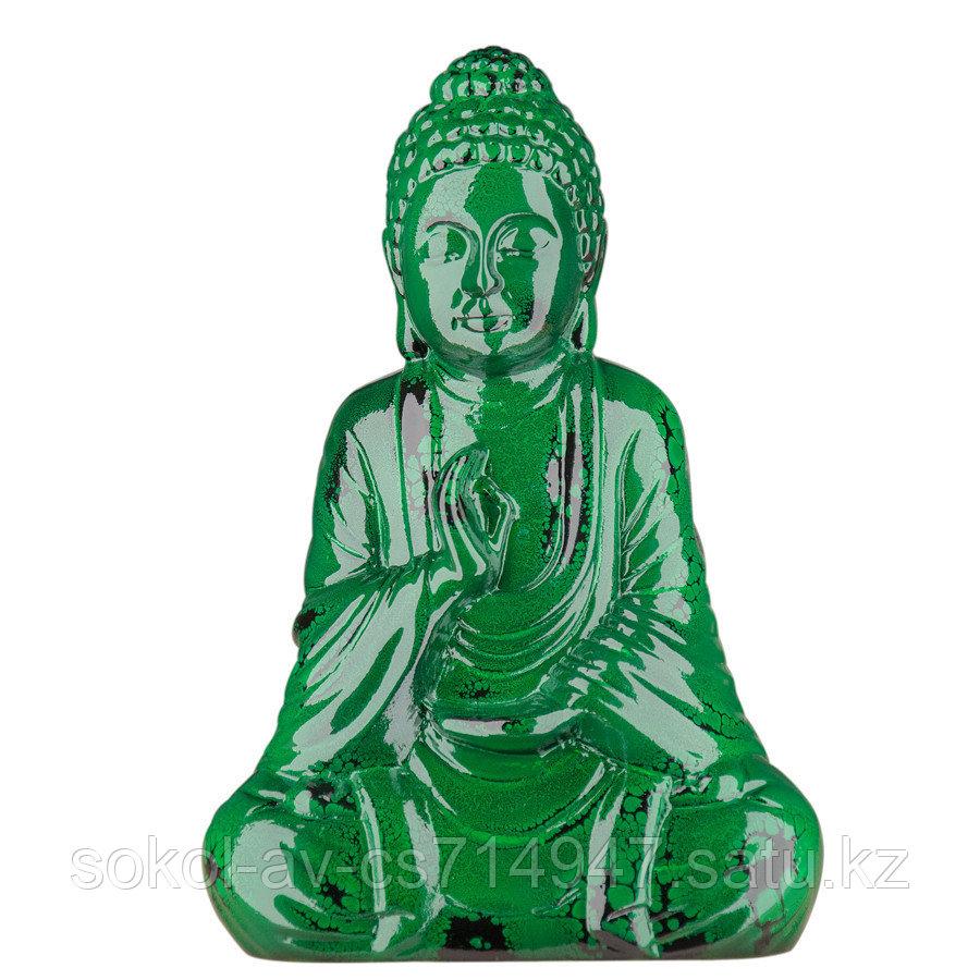 Статуэтка Будда The Buddha, подарок буддисту, керамика, 26*17*9,5 см, зеленый
