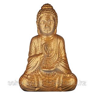 Статуэтка Будда The Buddha, подарок буддисту, керамика, 26*17*9,5 см, золото