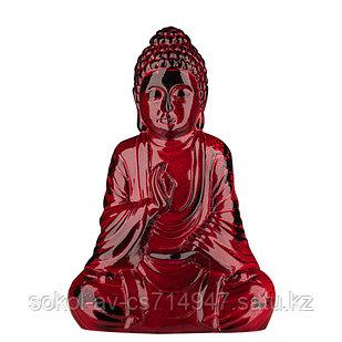 Статуэтка Будда The Buddha, подарок буддисту, керамика, 26*17*9,5 см, красный