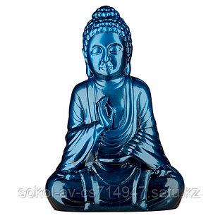 Статуэтка Будда The Buddha, подарок буддисту, керамика, 26*17*9,5 см, синий