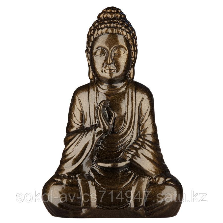 Статуэтка Будда The Buddha, подарок буддисту, керамика, 26*17*9,5 см, черный