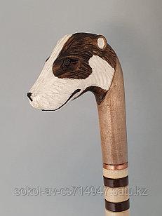 Трость ручной работы, резная, деревянная, для ходьбы, Барсук, подарок бабушке, дедушке, пожилым