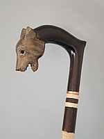 Трость ручной работы, резная, деревянная, для ходьбы, Волк, подарок бабушке, дедушке, пожилым