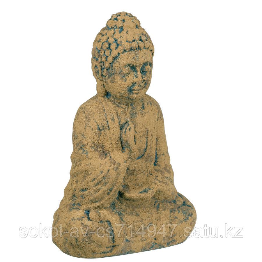 Статуэтка Будда The Buddha, подарок буддисту, керамика, 26*17*9,5 см, коричневый