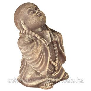 Статуэтка Буддист The Buddha, подарок буддисту, керамика, 24*16*15 см, коричневый