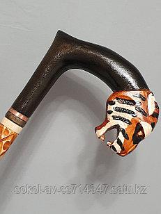 Трость ручной работы, резная, деревянная, для ходьбы, Тигр, подарок бабушке, дедушке, пожилым