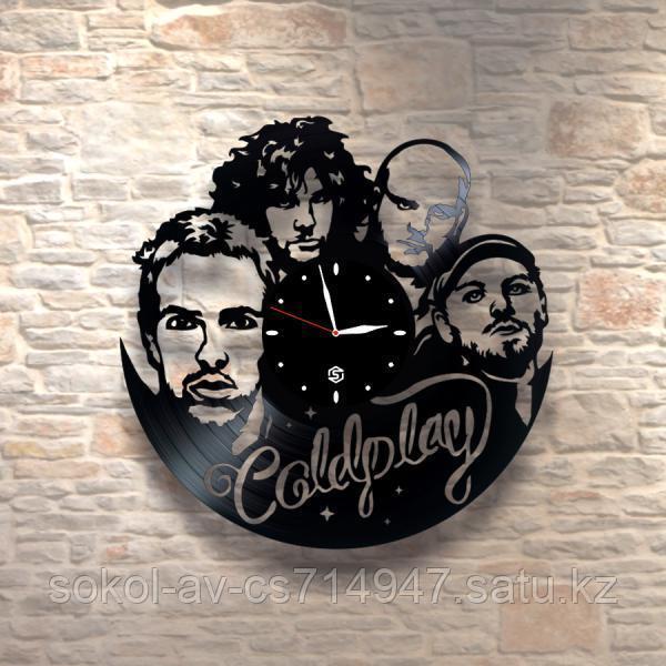 Настенные часы из пластинки, Coldplay, подарок фанатам, любителям, 0211