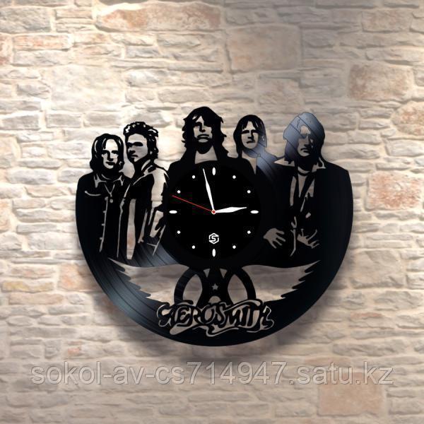 Настенные часы из пластинки, Aerosmith, подарок фанатам, любителям, 0155