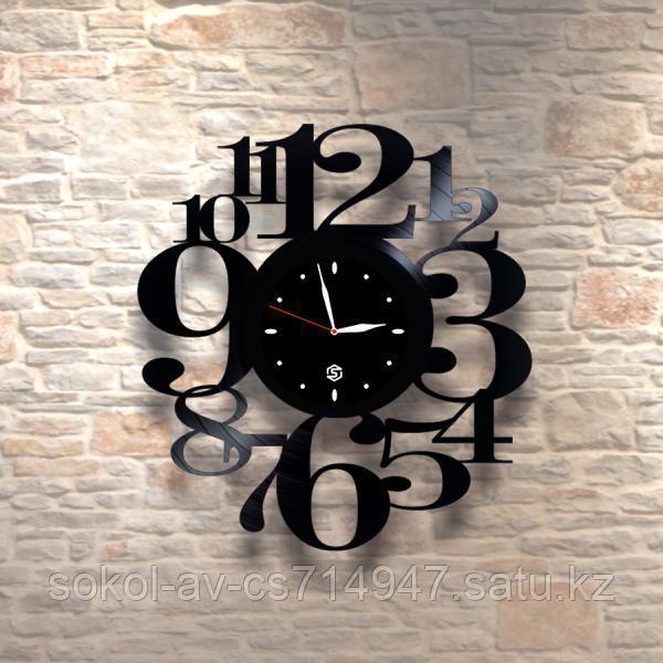 Настенные часы из пластинки, лофт, винтаж, ретро, в офис, кухню, коридор, гараж, комнату, 0524