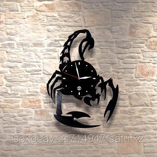 Настенные часы из пластинки, Скорпион, подарок скорпионам, 0462