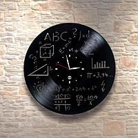 Настенные часы пластинки Матфиз, подарок учителю, преподавателю математики, физики, 0087