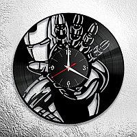 Настенные часы из пластинки iron man железный человек ,подарок фанатам, любителям, 0840
