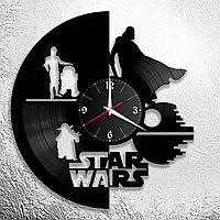 Настенные часы из пластинки Star Wars Звёздные войны, подарок фанатам, любителям, 0846