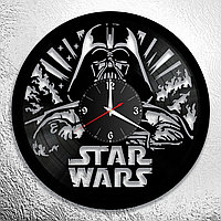 Настенные часы из пластинки Star Wars Звёздные войны, подарок фанатам, любителям, 0848