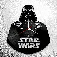 Настенные часы из пластинки Star Wars Звёздные войны, подарок фанатам, любителям, 0850