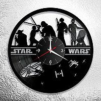 Настенные часы из пластинки Star Wars Звёздные войны, подарок фанатам, любителям, 0851