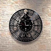 Настенные часы из пластинки, Asassins creed Кредо убийцы, подарок фанатам, любителям, 0173