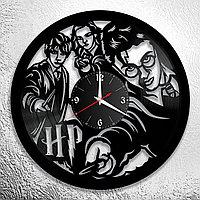 Настенные часы из пластинки Гарри Поттер Harry Potter, подарок фанатам, любителям, 0874