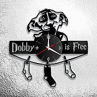 Часы из пластинки Добби Гарри Поттер Dobby Harry Potter, подарок фанатам, любителям, 0878