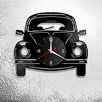 Настенные часы из пластинки автомобиль, в стиле лофт, ретро, винтаж, 0944